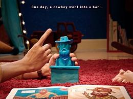 创意定格动画—天猫精灵儿童智能音箱之《来杯黑熊》