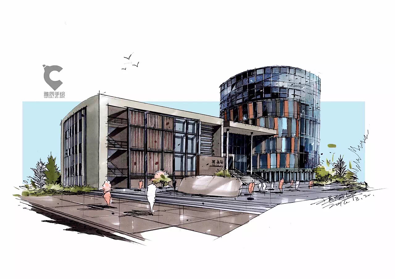 建筑马克笔手绘图表现(吉林建筑大学)