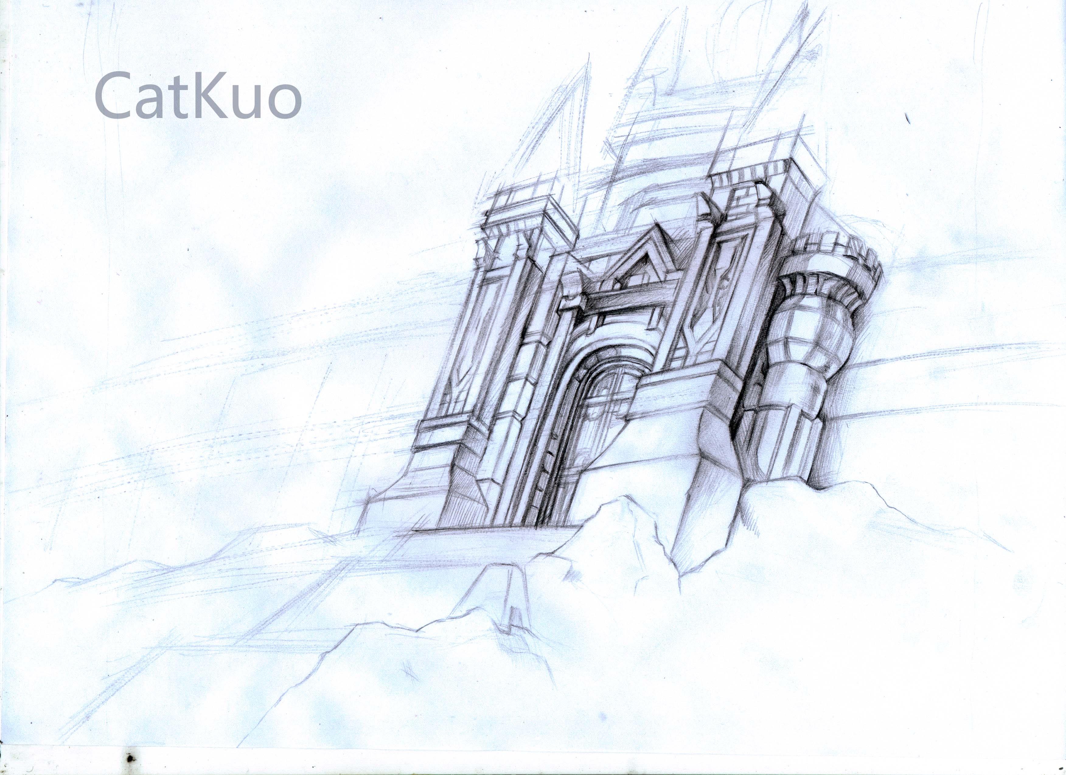 绘画城堡简笔画