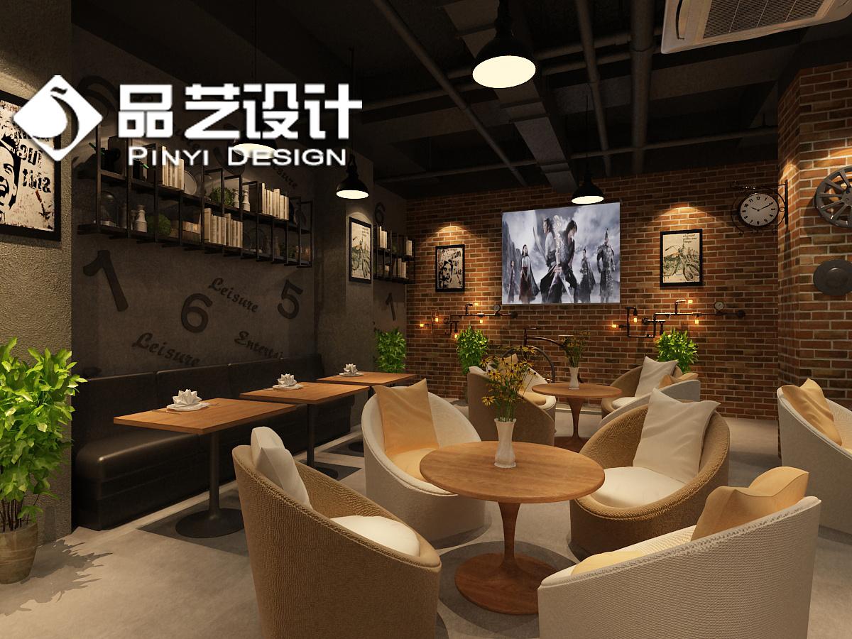 休闲网咖设计 网咖装修设计 loft风格 工业风格网咖设计 电竞网咖设计