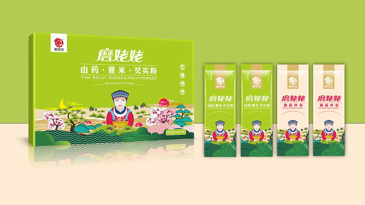 磨姥姥彩盒系列包装设计图片