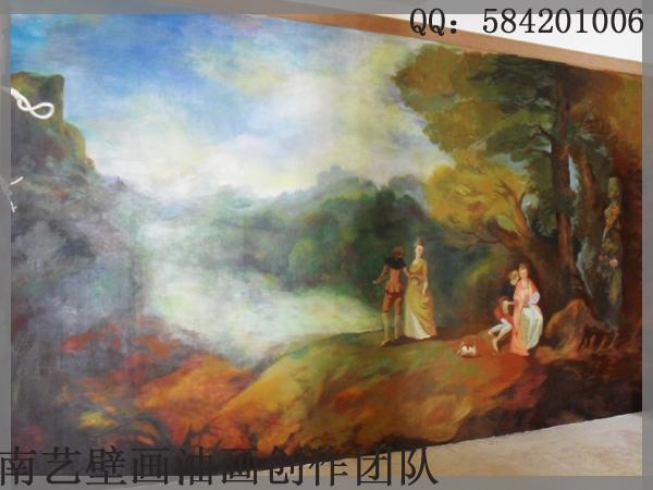 壁画油画3d立体画|墙绘/立体画|其他|郝璇壁画油画