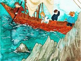 儿童冒险故事系列插图