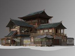 朴素的中国风建筑
