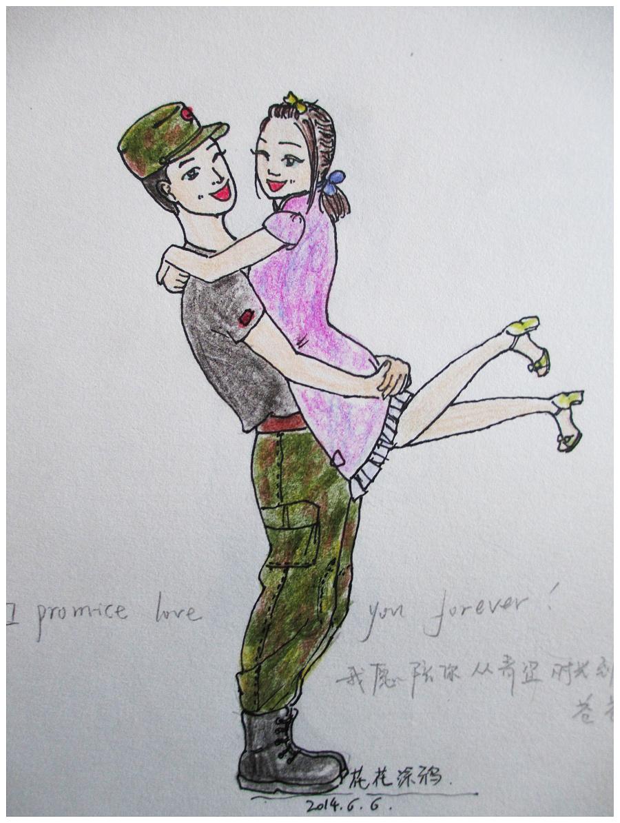原创手绘情侣系列|绘画习作|插画|花花涂鸦