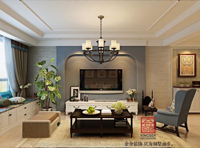简美石材-三室两厅-石家庄金舍装饰|室内设计|空风格建筑设计图片