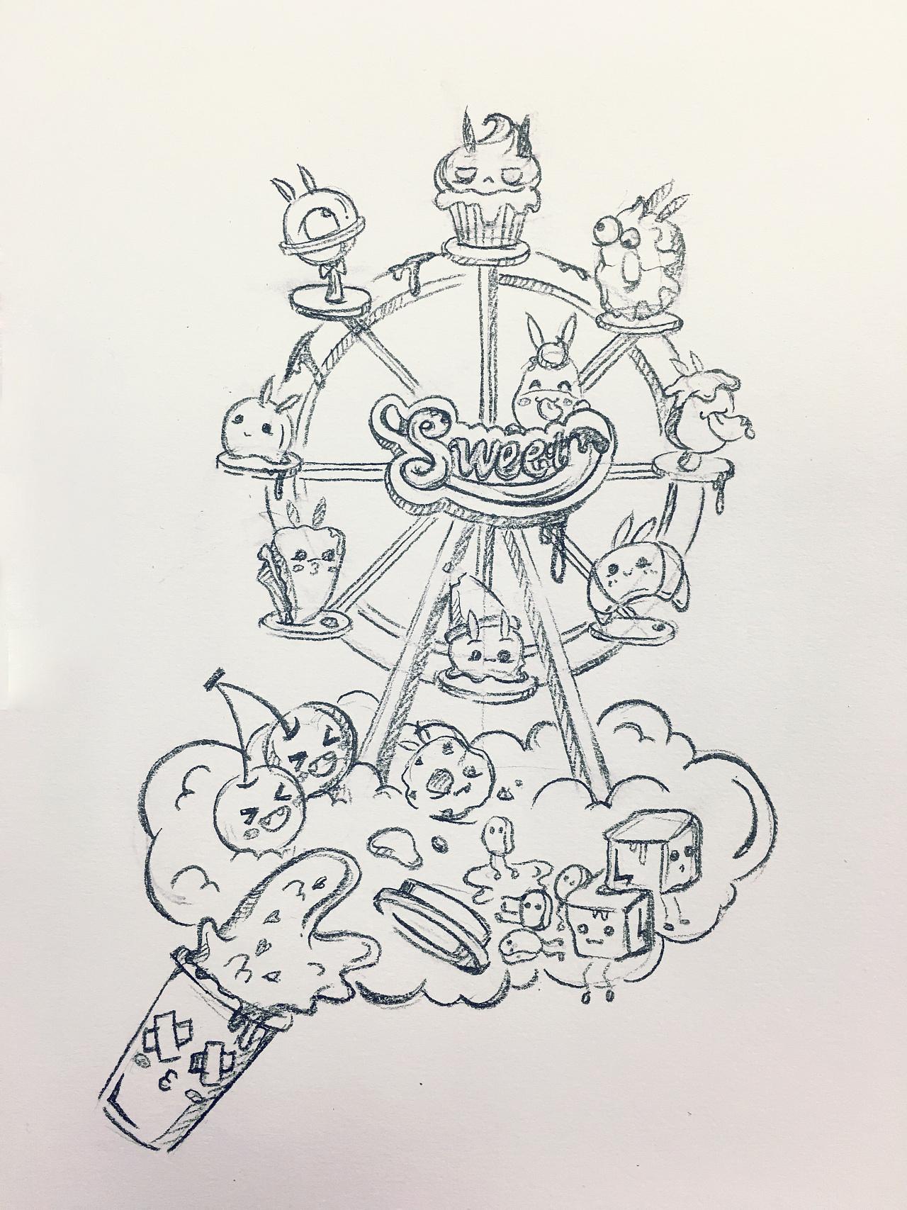 简笔画 手绘 线稿 1280_1707 竖版 竖屏