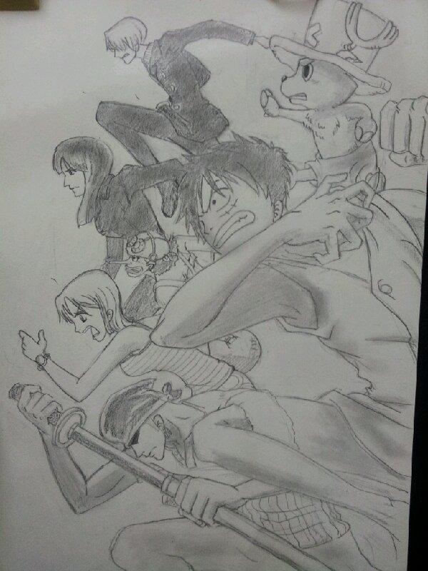 海贼王手绘步骤图