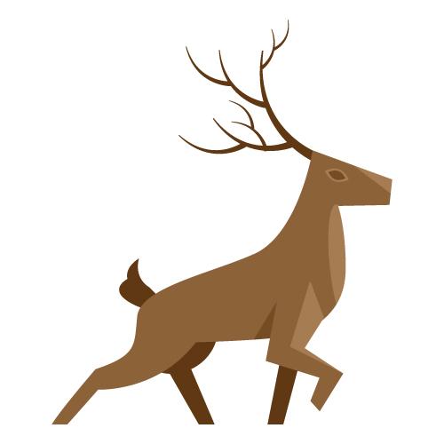 麋鹿几何练习|绘画习作