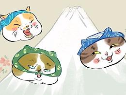 浮世绘市井猫表情包