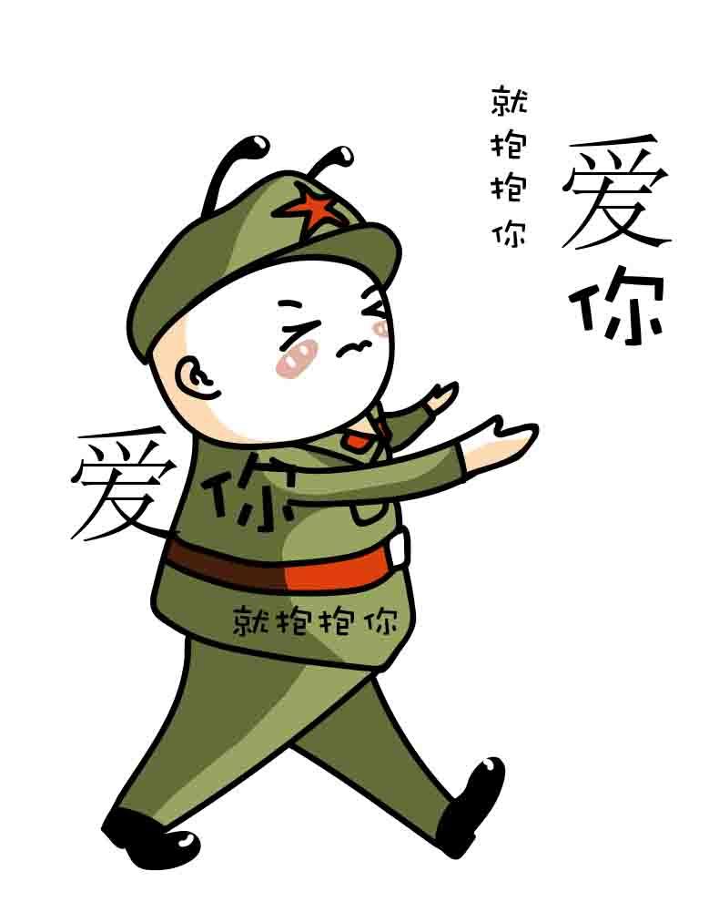 卡通漫画(红军蜜蜂)
