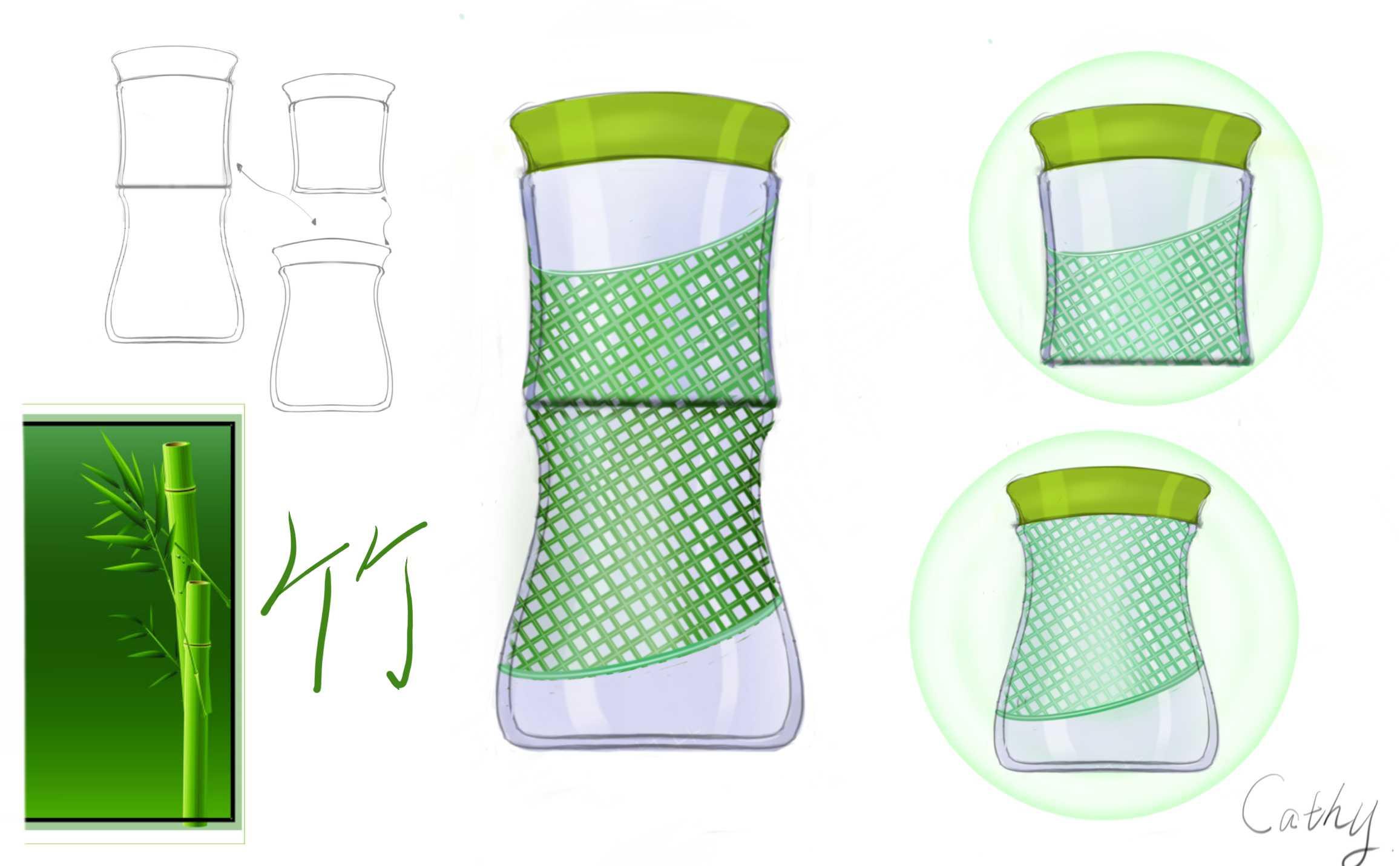 水杯设计 手绘