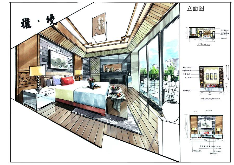 室内设计方案空间手绘表达