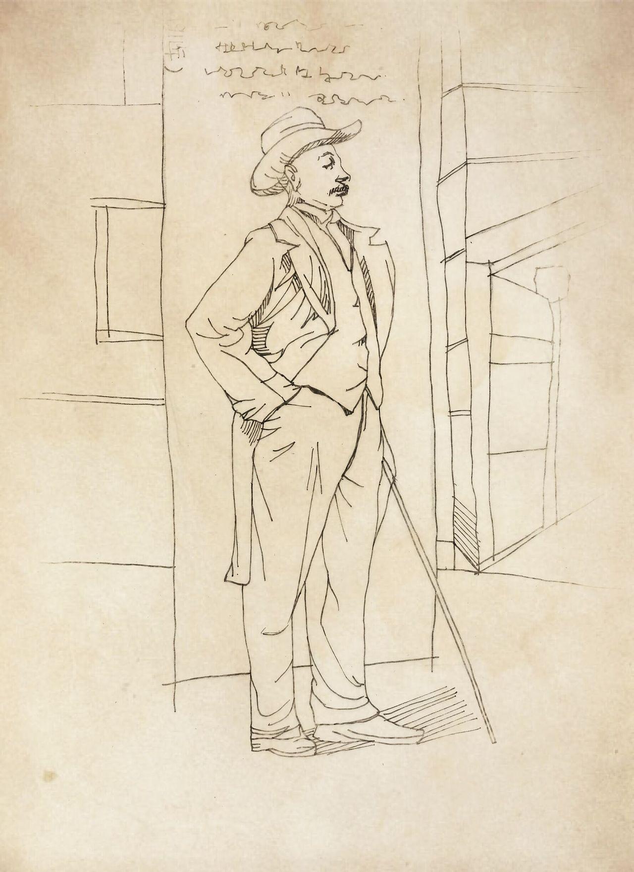 辛亥革命人物手绘雕像