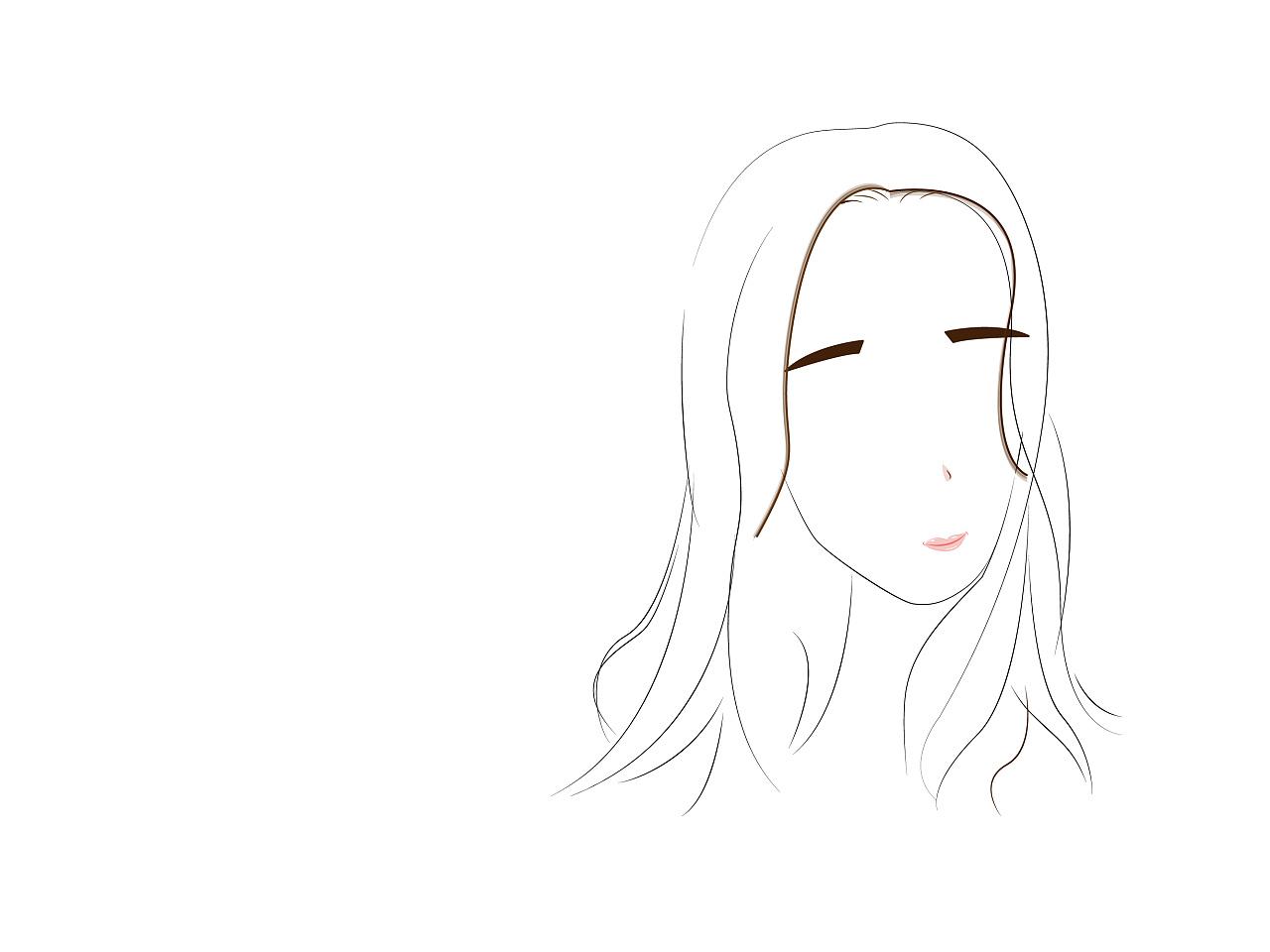 q版人物发型 线条