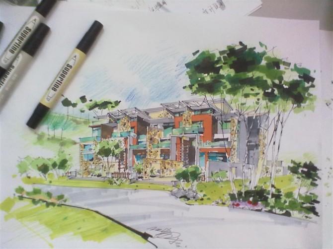 别墅手绘设计