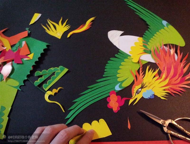 剪纸贴画-凤凰|手工艺|其他手工|时尚彩妆小鱼老师