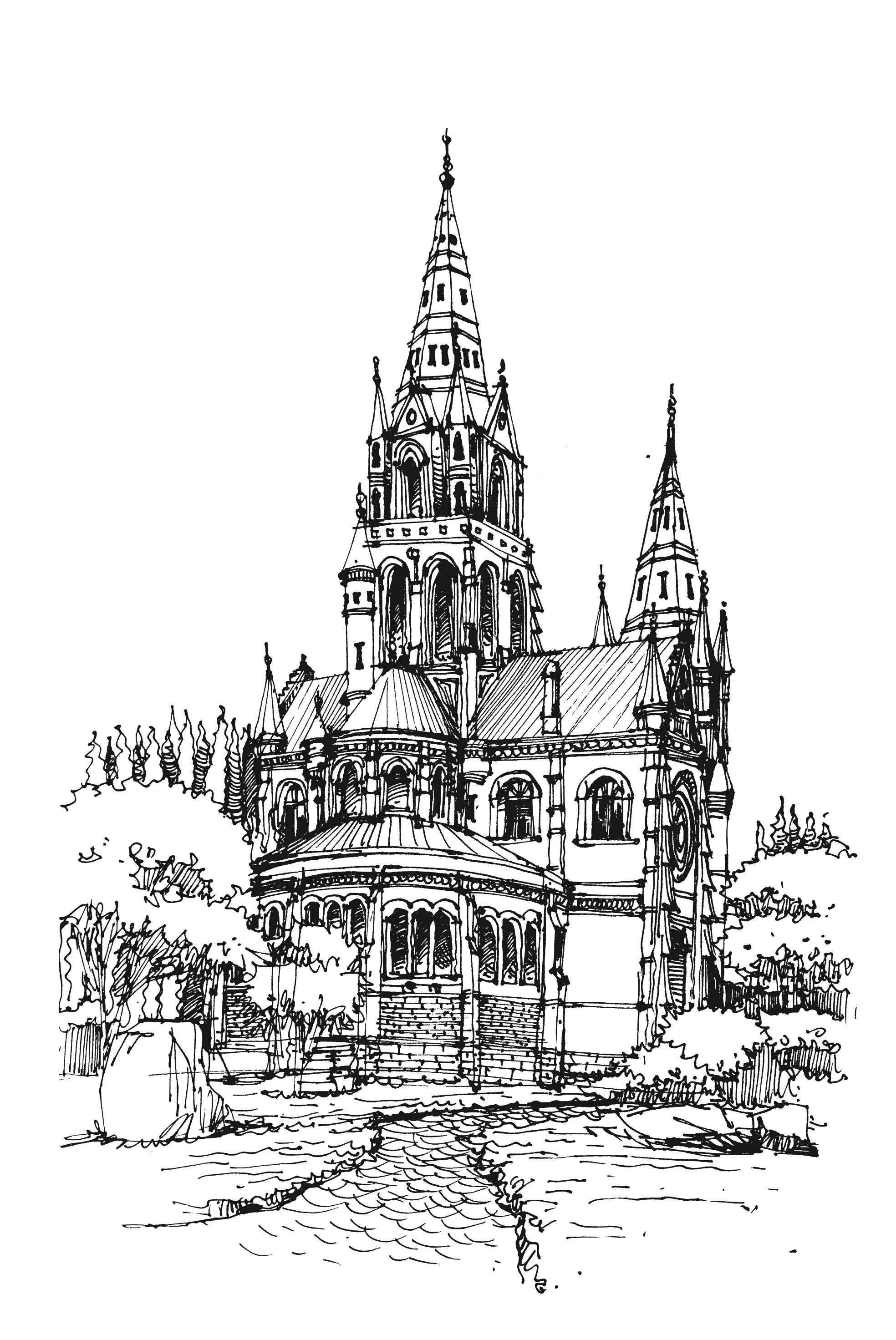 发几张欧式建筑手绘|空间|建筑设计|白鹿猿 - 原创