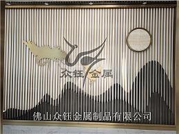 上海厂家定制-售楼部展厅山峦背景墙 多层次装饰