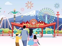 【商业插画】微信支付×富士急乐园宣传视频