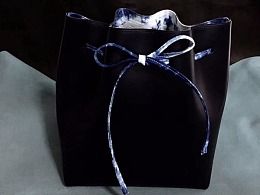 手工皮具包包, 皮艺与布艺碰撞