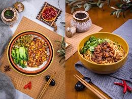 美食摄影/美团外卖菜品摄影/牛肉面菜谱制作