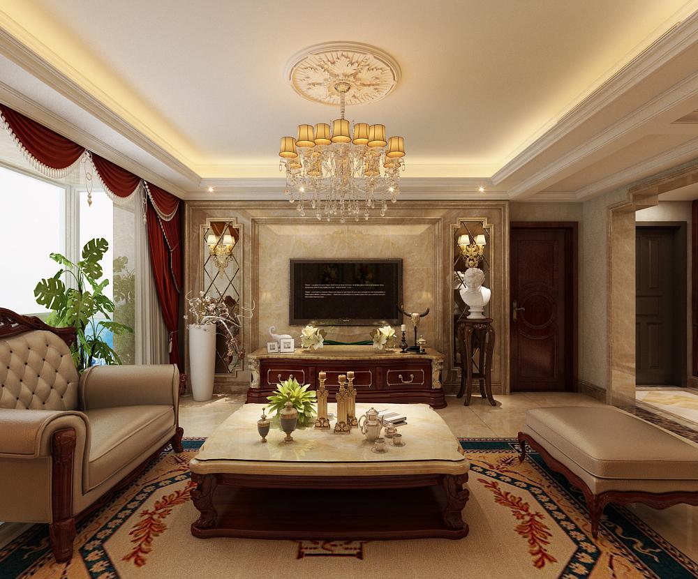 府5象限170三室两厅欧式绘制效果图案例|空excel号楼四个如何装修图片