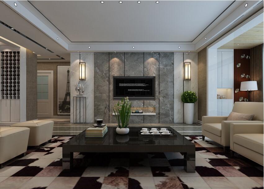 康桥溪棠三室两厅140平后现代风格装修需要多少钱