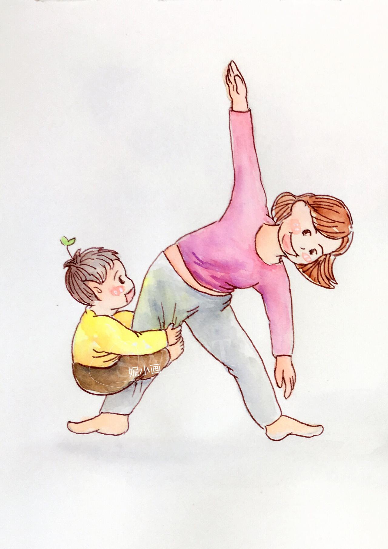 瑜伽卡通图片大全