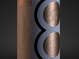 博州夏尔西里红葡萄酒(C4D写实表现)