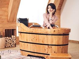 悦己坊 - 木桶广告拍摄