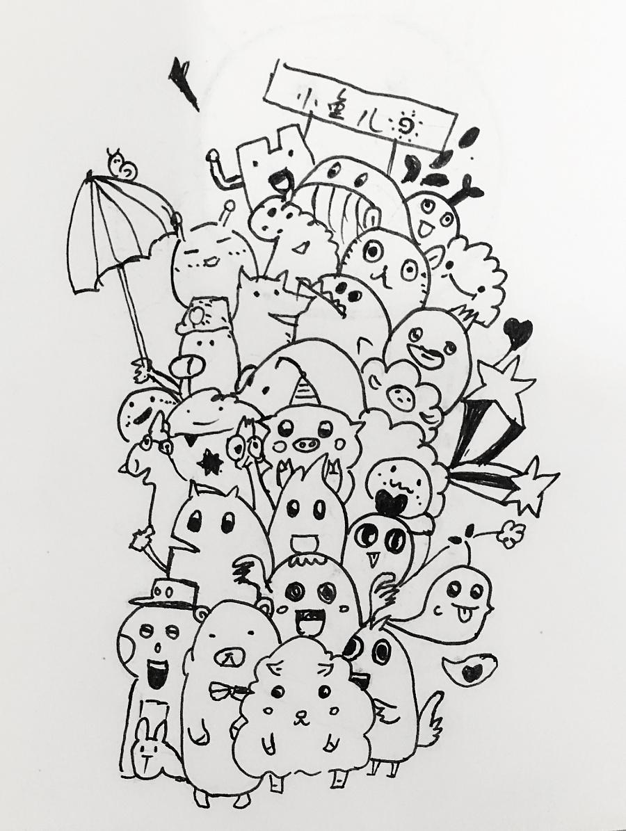 黑白插画手绘练习|绘画习作|插画|jcyjing