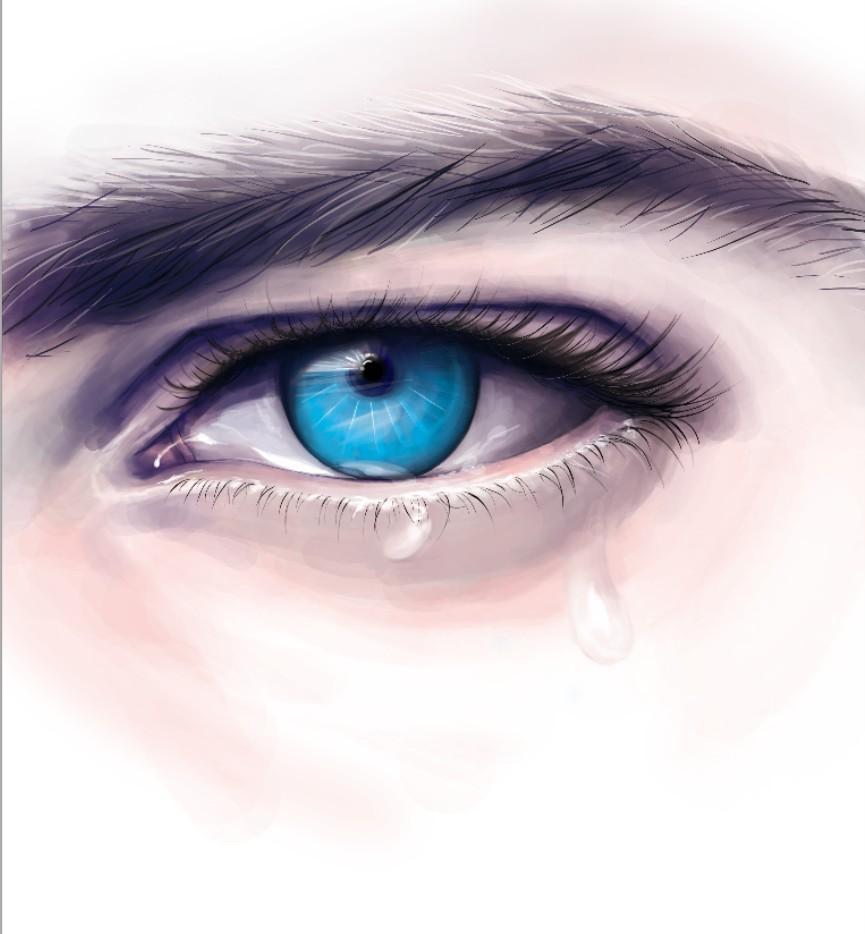 手绘板蓝色眼睛