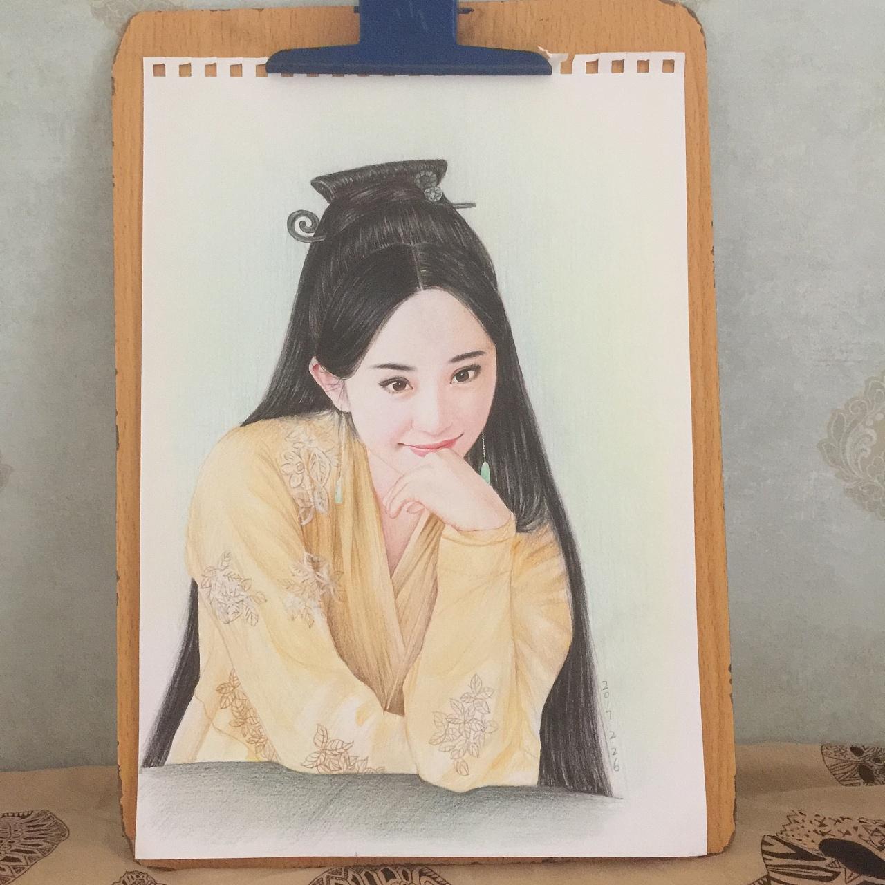 三生三世十里桃花 杨幂彩铅人物肖像
