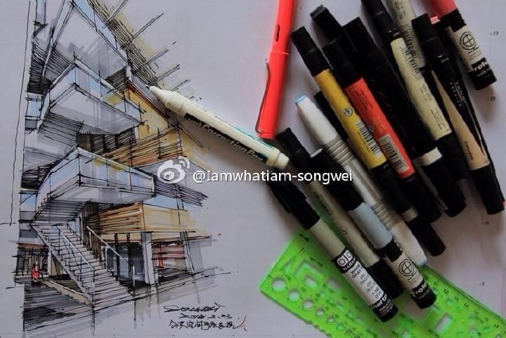 室内空间手绘表现,马克笔表现,居住空间,办
