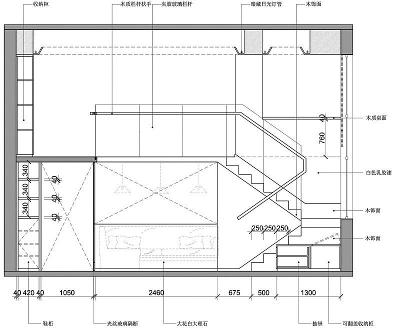 楼梯造型立面图