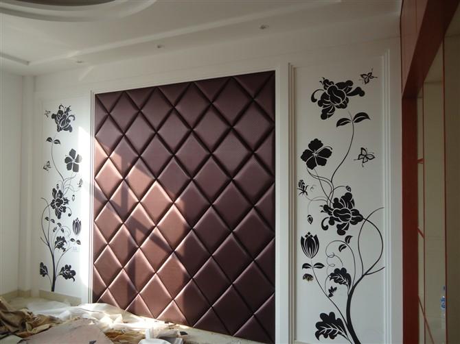 六安卡尔墙绘工作室出品----室内电视墙 床头背景墙体