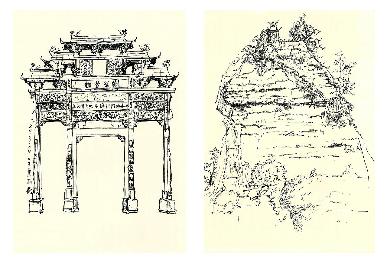 手绘:安徽写生3