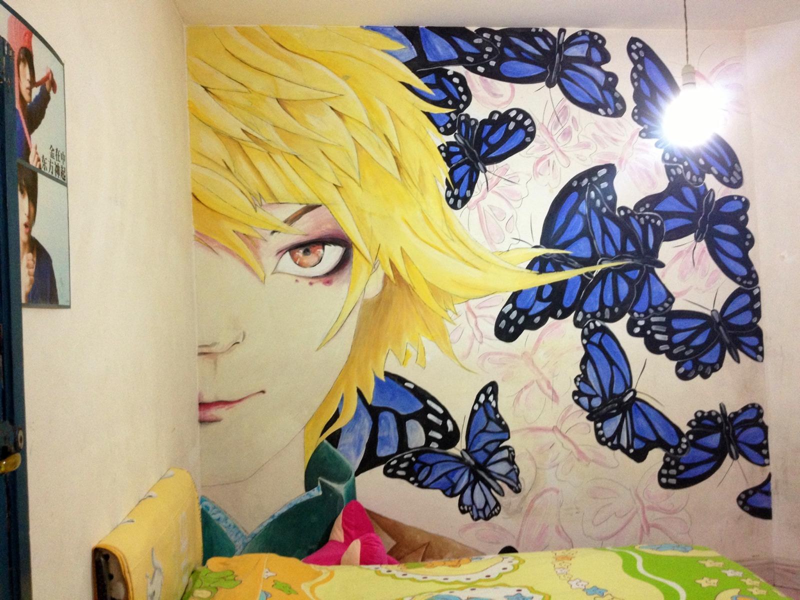我の小卧室手绘墙