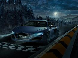 汽车夜景合成