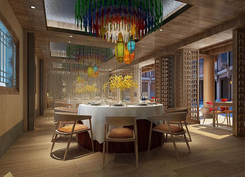 丽江玉龙花园藏式餐厅设计-贵阳主题餐厅设计 贵阳专业餐厅装修设计图片