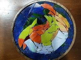镶嵌画杯垫——小鸟