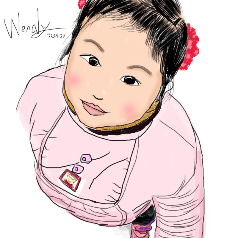 女孩手绘|插画|商业插画|wendy2020 - 原创作品
