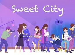 [Sweet City] 视频封面插画