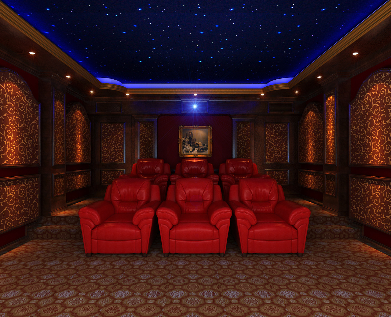 内江电影院装修设计先刷墙还是先打衣柜图片