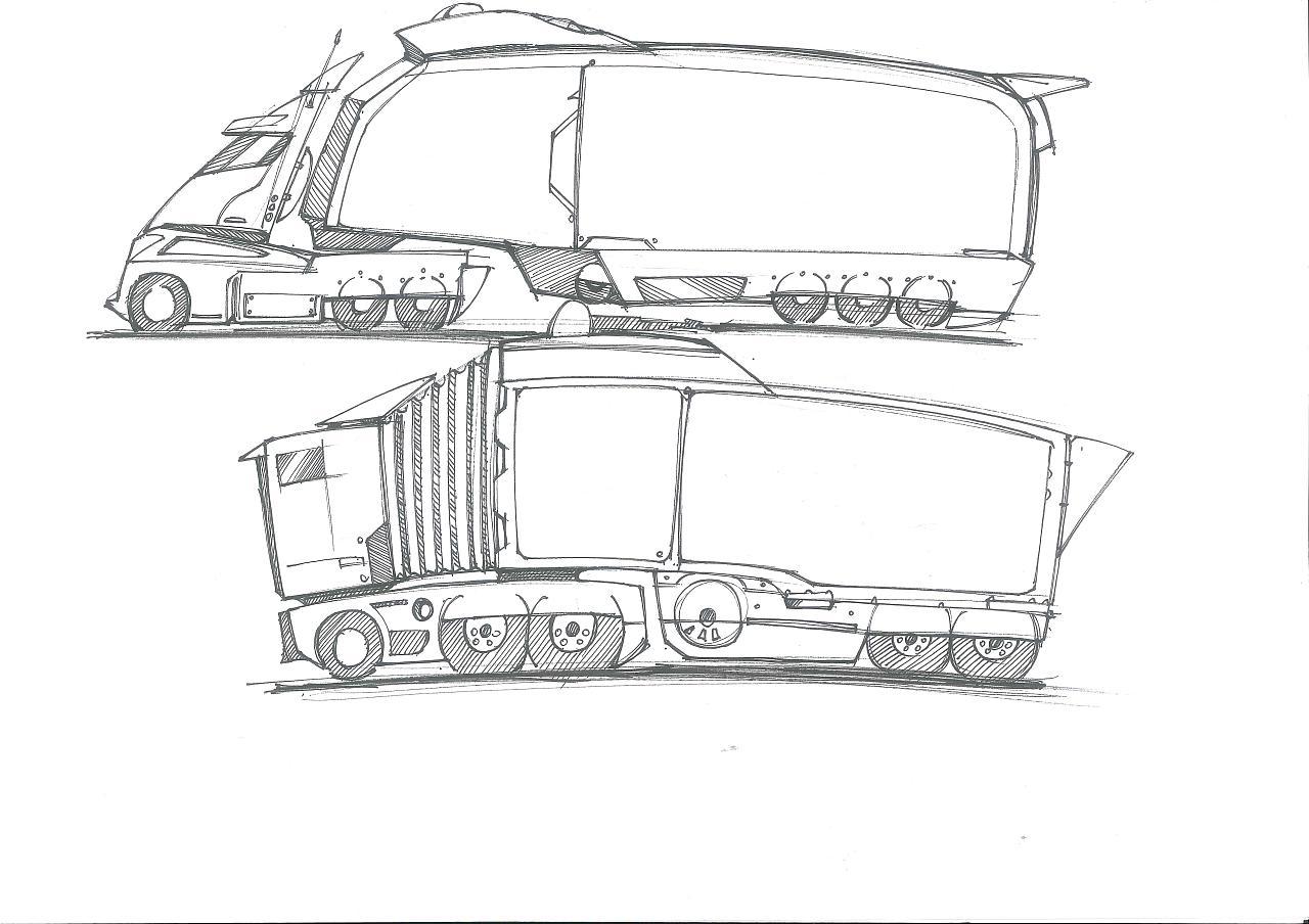 工业设计手绘汽车系列 工业/产品 其他工业/产品 四重