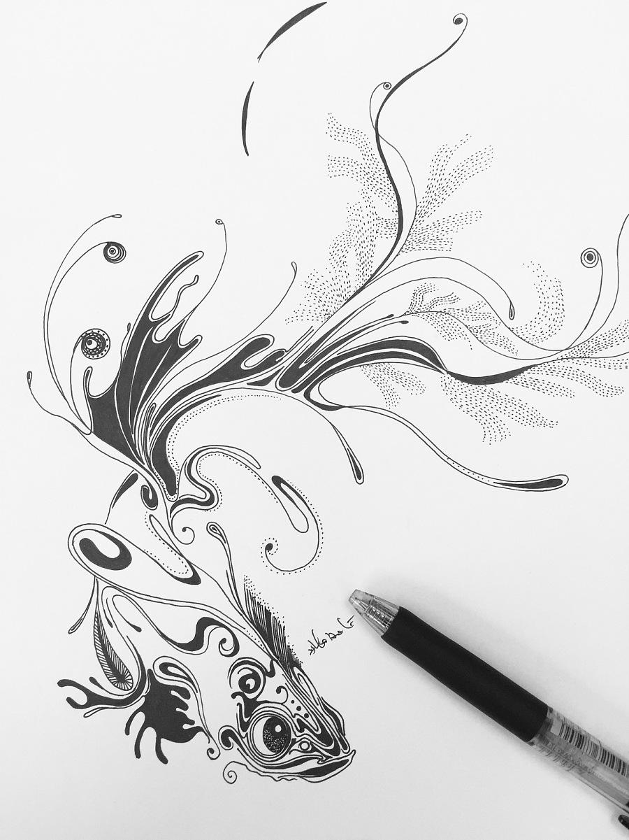 简笔画 手绘 线稿 900_1201 竖版 竖屏