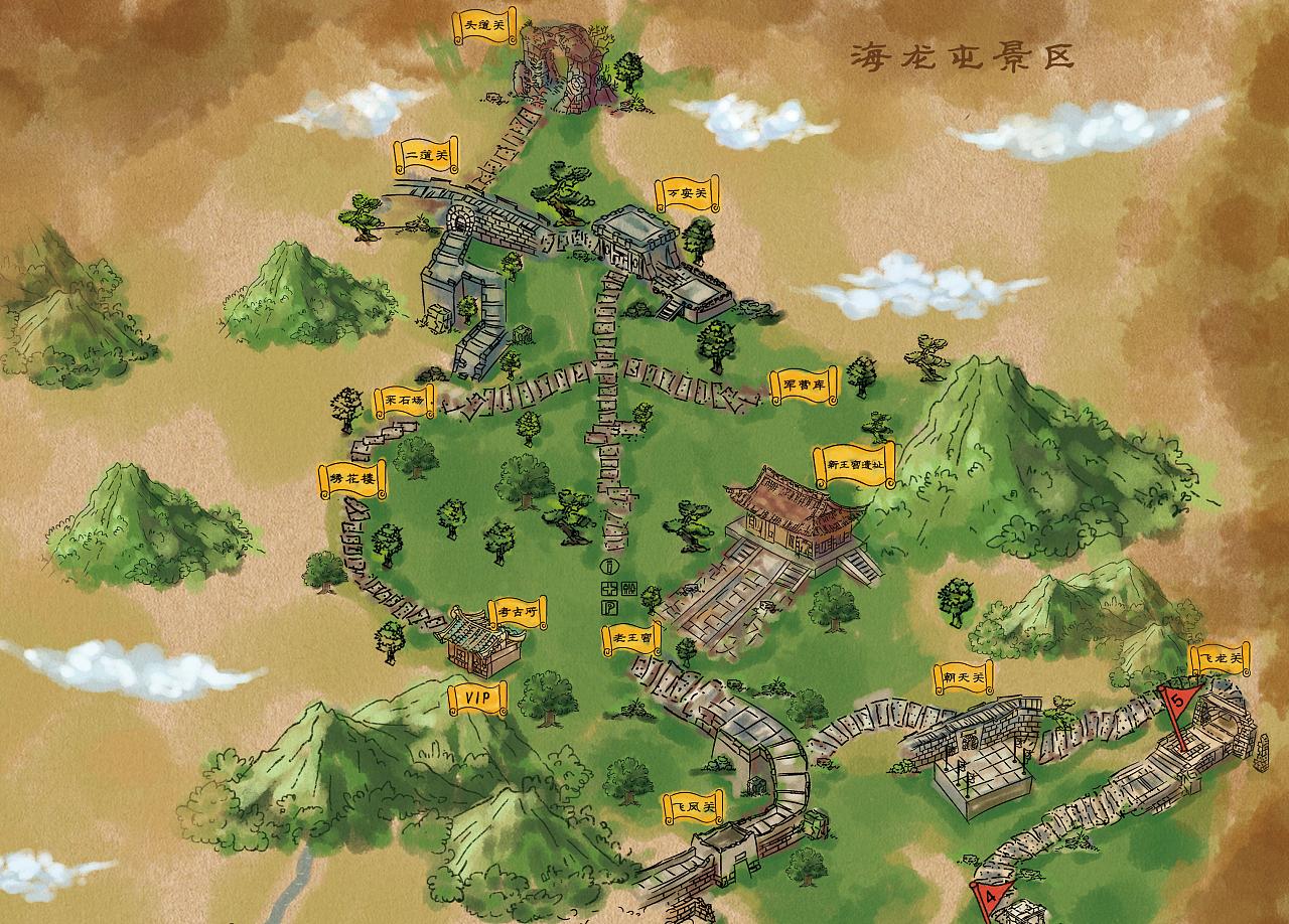 原创手绘地图