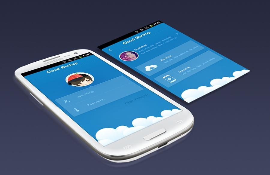 cloud backup|移动设备主题/app皮肤|ui|jingzhi929图片