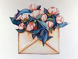 一组信封花